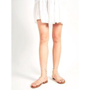 NIB Shein Clear Strap Rivet Sandal